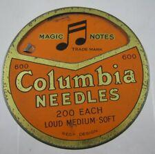 Gramophone Phonograph Needle Tin Columbia Loud Medium Soft rotating lid