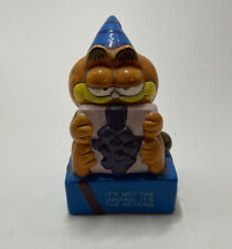 Vintage 1978, 1981 Enesco Garfield Birthday Ceramic Figurine Collectable Cat