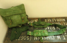 Military WW2 Jungle Ammo Double Pouches Belt Holster Green Webbing Bag (5326)