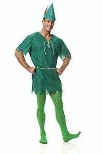 Charades Unisex Adult Peter Pan Costume, X-Large, Green, Size X-Large TdV3