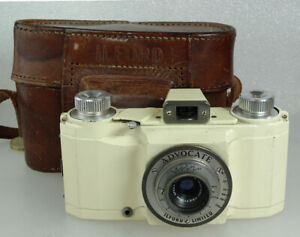Ilford Advocate Rare UK 35mm Camera, Dallmeyer Lens, Case, Working & Film Tested