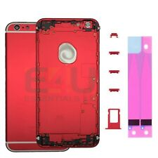 For Apple iPhone 6s Housing Frame Metal Back Cover - Red & White