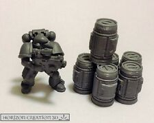 HC3D - Tech Canisters 20mm Tall 6 Pack -Wargames - Terrain - Scenery
