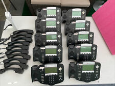 Lot Of 10 Polycom Soundpoint Ip 550 Phones 2201 12550 001 With Stands Amp Handsets