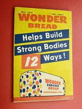 1950's WONDER BREAD Advertising Shopette Note-Pad; Bakery: Great Graphics
