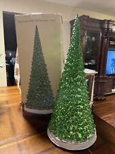 """19"""" H Cracker Barrel Nostalgic Ceramic Light Up Jingle & Mingle Christmas Tree"""