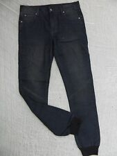 HEYZEUS dark blue ribbed cuff slim skinny leg denim jeans size 32