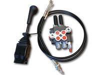 cable remote control valve kit: 2 spool valve 80lpm/ 21gpm + cables + joystick