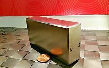 One Huge Neodymium Block Magnet. Super Strong Rare Earth N52 4 x 2 x 1 Inch
