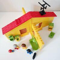 VINTAGE LEGO DUPLO Yellow House & Accessories (Set 2770) 24 Pcs INC Mini Figures