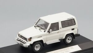 RARE! Toyota Land Cruiser 70 Van 2door ZX 1990 white Hi-Story HS068WH 1:43