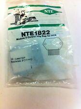Nte1822 or Nte-1822 or Ecg1822 Module -3 output voltage reg for Vcr 10 lead Sip