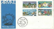 1980 FDC UPU Admission set 4 FDI Port Moresby 23.1.80 Unaddressed Cover
