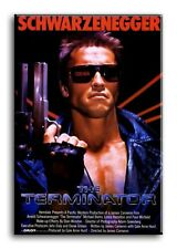 Large Wall Art Canvas Print of The Terminator Movie Poster Framed
