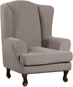 Stretch Wing Chair Slipcover Wingback Chair Slipcovers Sofa Covers 2-Piece Spand