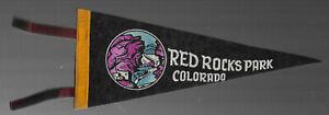 VINTAGE SOUVENIR FELT PENNANT RED ROCKS PARK COLORADO 1950s