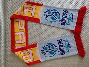 rare echarpe de football SPAIN vintage  scarf  euro 96 england