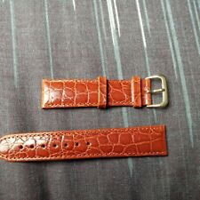 padded Crocodile Calf 20mm watch strap leather