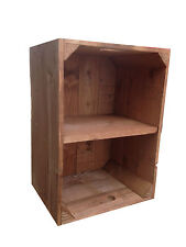 Crates4You - Standard Rustic Wooden Apple Crate Storage Box  With Short Shelf
