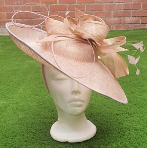 PETER BETTLEY CORAL WEDDING  DISC FASCINATOR OCCASION ROSE GOLD