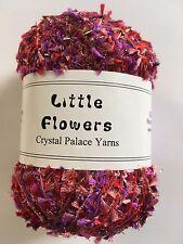"Crystal Palace Yarn Little Flowers #8131 ""Red Flare"" Metallic Mini Flag Yarn 50g"