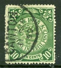 China 1898 Coiling Dragon 10¢ Green VFU F431 ⭐⭐⭐⭐⭐⭐