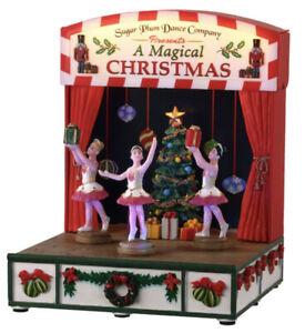 Lemax Sugar Plum Dance Company Xmas Village Sight Sound Ballerina New 04761