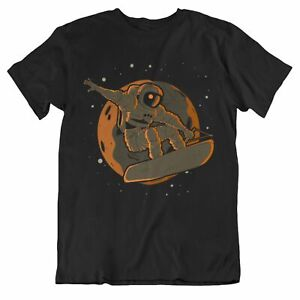 Men's Wakeboarding Shirt - Wakeboarding Astronaut Outer Space Spaceman T-Shirt