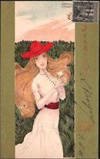 Raphaël Kirchner. Les parfums. Dell'Aquila D.12-5.  1900