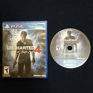 Unchartered 4 A Thief's End PS4 Disc and Case Free 1st Class Shipping