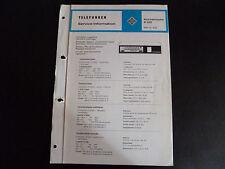 Schaltbild  Service Informationen Telefunken  Küchenradio K 105