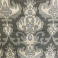 Ikat shades of gray cream jacquard fabric by the yard pillow upholstery designer