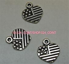 P1074 20pc Tibetan Silver stars heart Charm Beads Pendant accessories wholesale
