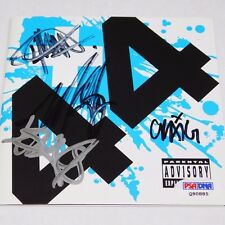 BLINK182 SIGNED +44 CD Cover PSA/DNA AUTO Autograph BARKER HOPPUS plus44