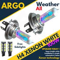 H4 White Headlight Xenon Bulbs Ford Fiesta Mk 7 Style Studio 501 Smd Sidelights