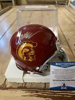 Marcus Allen Autographed/Signed Mini Helmet Beckett COA USC Trojans C