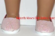 Pink Glitter Slip On Shoes Fits 18 in American Girl Doll Clothes