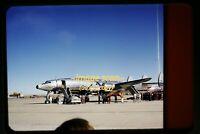 President Eisenhower's Lockheed Constellation @ Denver 1950s Original Slide e17a