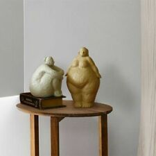 Fat Lady Ornament Figurines Large Sculptures Woman Figure Home Decor Gift Resin