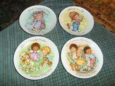 1981-1984 Avon Mothers Day Collectors Plate Lot Of 4 Made In Japan Super Cute !