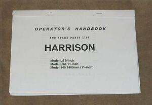 Harrison L5 Lathe Manual