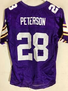 Reebok Women's NFL Jersey Minnesota Vikings Peterson Purple Purple Collar sz M