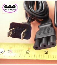 Power Lead Cord Small 3-Prong Plug fits Janome New Home Sewing Machine #H003825