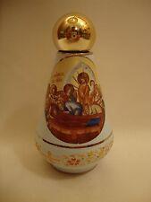 Byzantine Greek Roman Rare Ceramic Dormition of Mary & POPE Holy Water Bottle