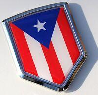 Puerto Rico Decal  Flag Car Chrome Emblem Sticker bumper badge Puerto Rican 3D