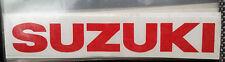 COPIA SCRITTA SUZUKI ROSSO MOTORCYCLE SCOOTER ADESIVI STICKER SHEET