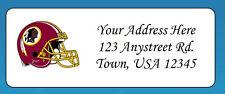 60 Personalized WASHINGTON REDSKINS Return Address Labels