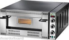 FORNO PIZZA A GAS 1 CAMERA CM 62X62 Professionale 13900 W 4 PIZZE CM 30 METANO