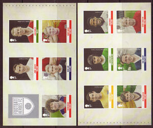 GREAT BRITAIN 2013 FOOTBALL HEROES, SET OF 11 SELF ADHESIVE IN 2 PANES MNH