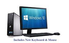 """Fast Windows 10 Complete set 22"""" Monitor Dell 780 1TB 8Gb Desktop PC Computer"""